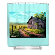 Road On The Farm Haroldsville L A Shower Curtain