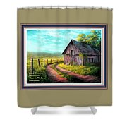 Road On The Farm Haroldsville L A With Decorative Ornate Printed Frame.  Shower Curtain