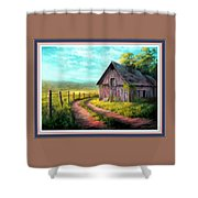 Road On The Farm Haroldsville L B With Alt. Decorative Ornate Printed Frame.   Shower Curtain