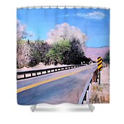 Road Over The Wash Shower Curtain