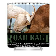 Road Rage Shower Curtain