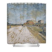 Road Running Beside The Paris Ramparts Paris, June - September 1887 Vincent Van Gogh 1853  1890 Shower Curtain