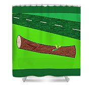 Road Side Shower Curtain