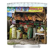 Road Side Store Philippines Shower Curtain