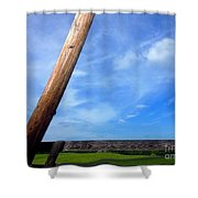 Road Side View Of Countryside Shower Curtain