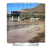 Road Sign To The Sky Shower Curtain
