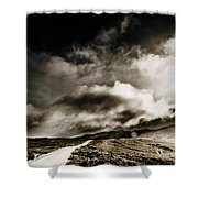 Road Storm Shower Curtain