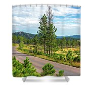 Road Through Custer State Park Shower Curtain