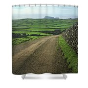 Road Through The Pastrues Of Terceira  Shower Curtain by Kelly Hazel