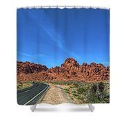 Road Through Valley Of Fire  Shower Curtain