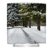 Road To Bishop's House Shower Curtain