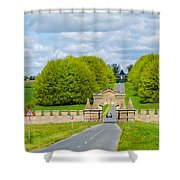 Road To Burghley House-vertical Shower Curtain