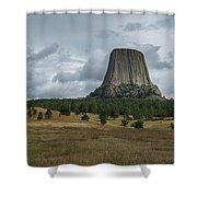 Road To Devils Tower Panorama Shower Curtain