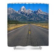 Road To Grand Teton National Park Shower Curtain
