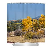 Road To Hart Prairie Shower Curtain