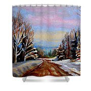 Road To Knowlton Quebec Shower Curtain