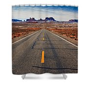 Road To Monument Valley Shower Curtain