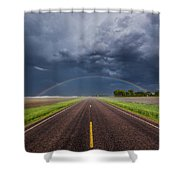 Road To Nowhere - Rainbow Shower Curtain