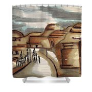 Road To Petra Shower Curtain