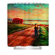 Road To Red Gables Shower Curtain