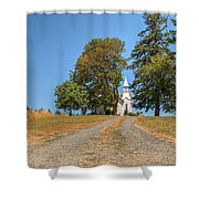 Road To Redemption Shower Curtain