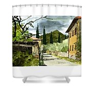 Road To Reggello Shower Curtain