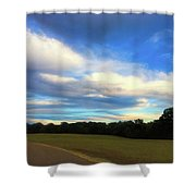 Road To River At Shiloh Shower Curtain