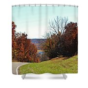 Road To Stonefort Shower Curtain
