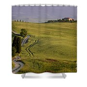 Road To Terrapille In Tuscany Shower Curtain