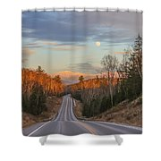 Road To The Moon Shower Curtain