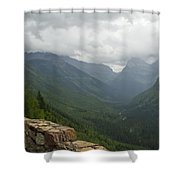 Road-to-the-sun Road Glacier Park Montana Shower Curtain