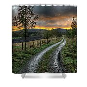 Road To The Sunset Shower Curtain