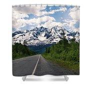 Road To Valdez Shower Curtain