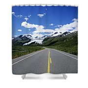 Road To Worthington Glacier Shower Curtain