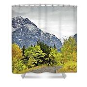 Road Too Autumn Shower Curtain