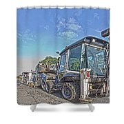 Road Work Machines Hdr Shower Curtain