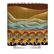 Roadrunner Races Shower Curtain