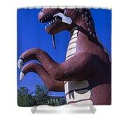 Roadside Dinosaur Shower Curtain