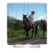 Roadside Horses Shower Curtain
