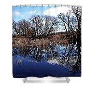 Roadside Pond I Shower Curtain