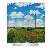 Roadside Prairie Shower Curtain