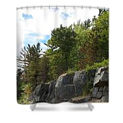Roadside Rocks Shower Curtain