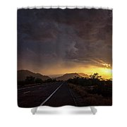 Roadside Sunset  Shower Curtain