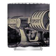 Roadside Telescope Shower Curtain