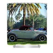 Roadster At The Castle Shower Curtain