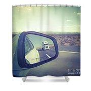 Roadtrip, Us Freeway Shower Curtain