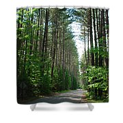 Roadway At Fish Creek Shower Curtain