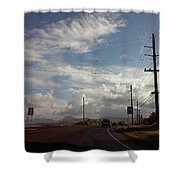 Roadway Shower Curtain
