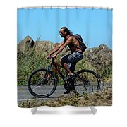 Roaming America Shower Curtain