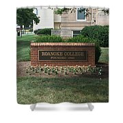Roanoke College Sign Shower Curtain